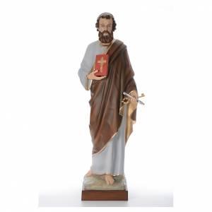 Statue in Vetroresina: San Pietro cm 160 vetroresina colorata