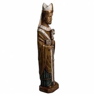 Statue in pietra: San Vescovo (Évêque) 51 cm pietra Bethléem