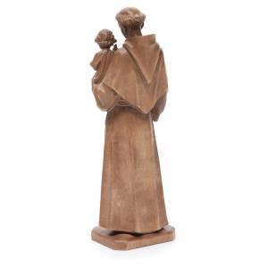 Sant'Antonio con bimbo legno Valgardena patinato s3