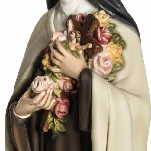 Santa Teresa de Lisieux 80cm en fibra de vidrio s7