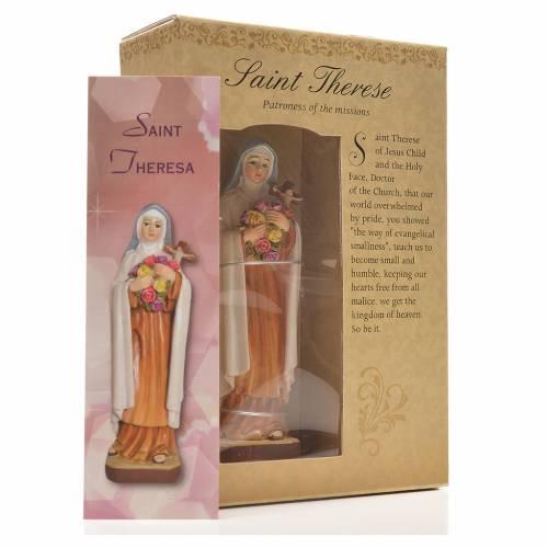 Santa Teresina 12 cm con immaginetta PREGHIERA INGLESE s3