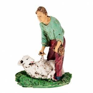 Tondeur de moutons avec brebis 10 cm s1