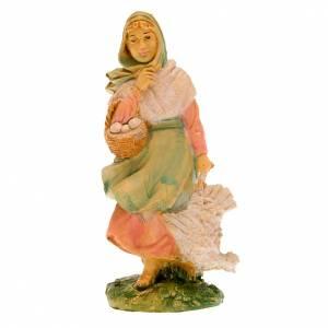 Femme avec poulet 10 cm s2