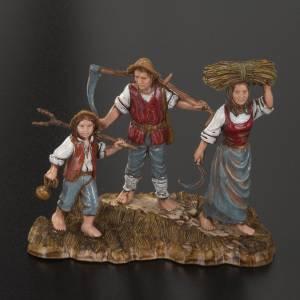 Santons crèche: Santons de crèche Moranduzzo 10 cm 3 bergers