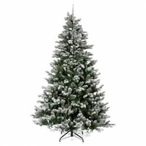 Sapins de Noël: Sapin de Noël 225 cm neige avec glitter Poly Sheffield
