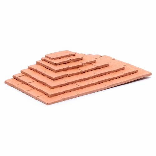 Scalinata su tre lati in terracotta 1,5x10x5 cm s2