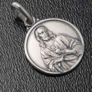 Scapulaire: Scapulaire médaille Sacré coeur argent 925