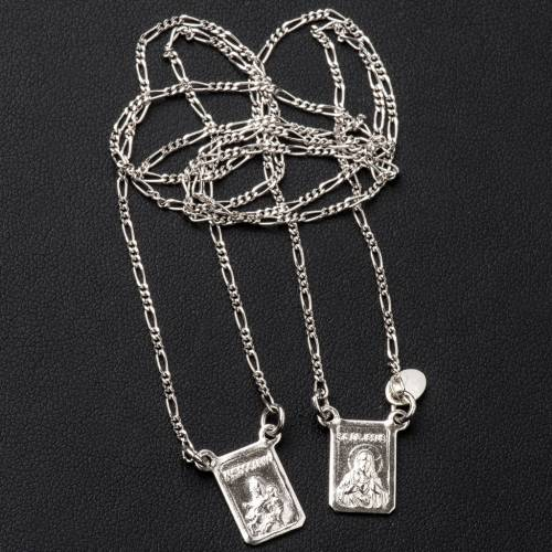 Scapular in 800 silver, Our Lady and Jesus s3