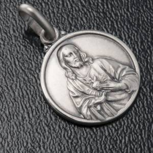 Scapular medal with Sacred Heart in 925 Silver s3