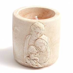 Scented-candle in terracotta vase s4