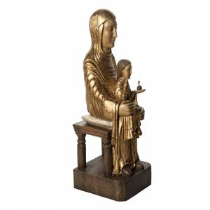 Seat of Wisdom in gold finishing painted wood 72 cm Bethleem s2