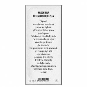 Segnalibro: Segnalibro carta perlata S. Cristoforo Pregh. Automobilista 15x5 cm ITA