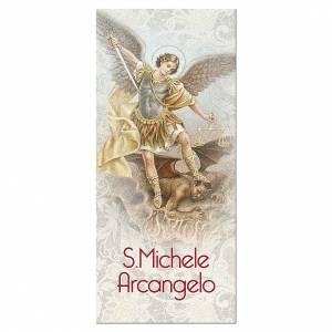 Segnalibro: Segnalibro carta perlata S. Michele Arcangelo Preghiera 15x5 cm ITA