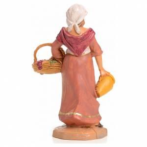 Señora con cesta de frutas 9,5cm Fontanini s2