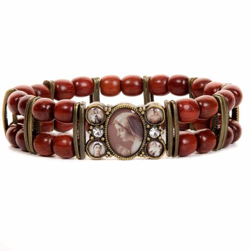 Sepia and strass multi-image bracelet s4