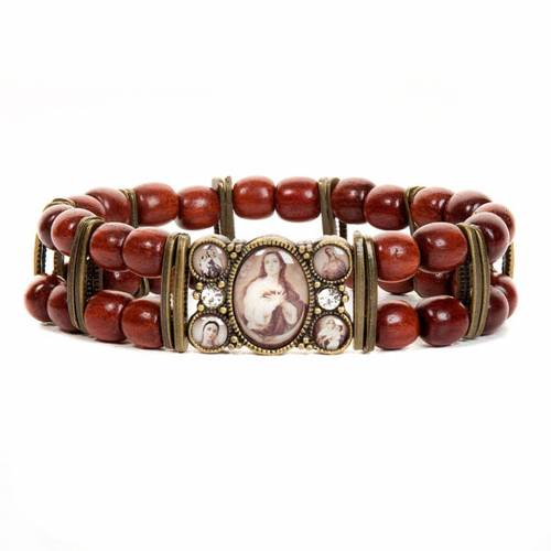 Sepia and strass multi-image bracelet s2