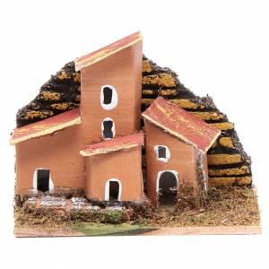 Settings, houses, workshops, wells: Set of 12 little houses5x10x5 cm for DIY nativity scene