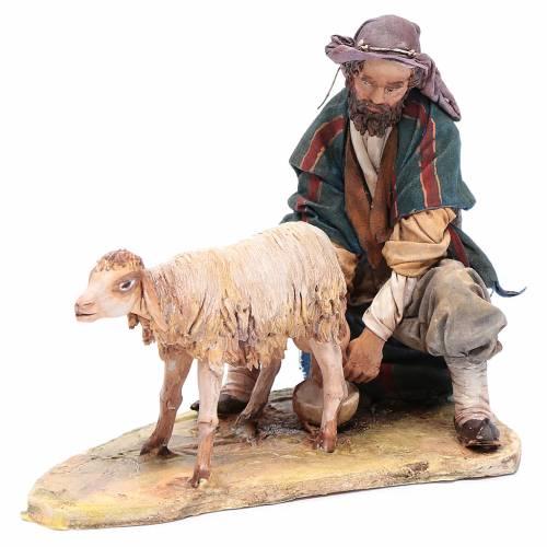 Shepherd milking 18cm by Angela Tripi s4