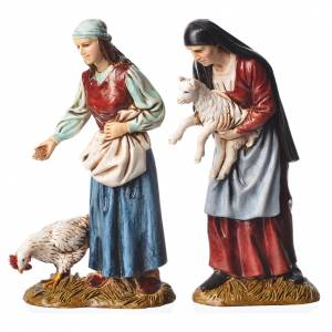 Shepherds, 4 nativity figurines, 12cm Moranduzzo s3