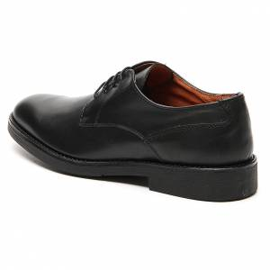 Shoes in opaque real black leather s2