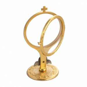 Shrine for Magna Host in brass, H14cm with angel s4