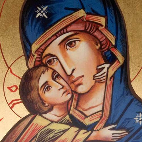 Silkscreen print of Our Lady of Tenderness Vladimir s2