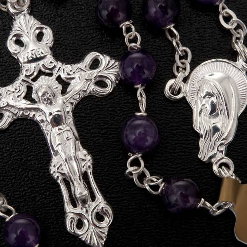 Silver 925 rosary and amethyst s3