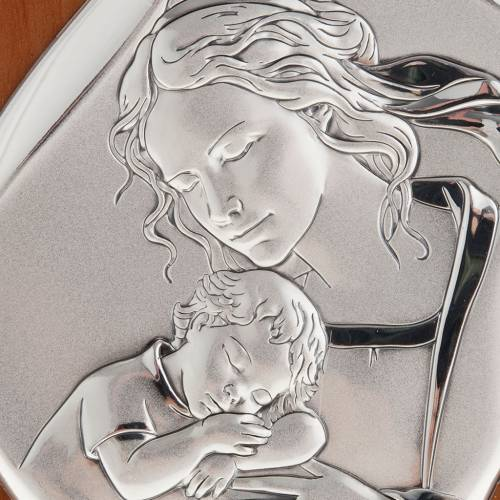 Silver Bas Relief - Mother with sleeping baby 14x11cm s2