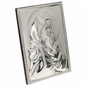Silver rectangular Bas Relief Madonna del Ferruzzi s2