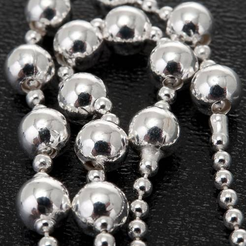 Silver rosary necklace, silver 925 4 mm beads s3