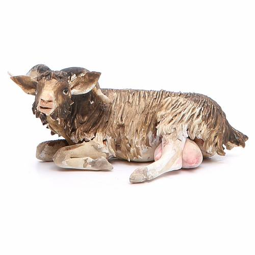 Sitting goat 18cm Angela Tripi s1