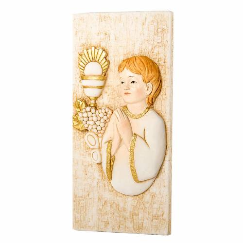 Small painting Boy First Communion 7x15cm s1
