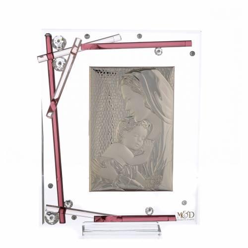 Souvenir Naissance cadre maternité violet 19x15 cm s1