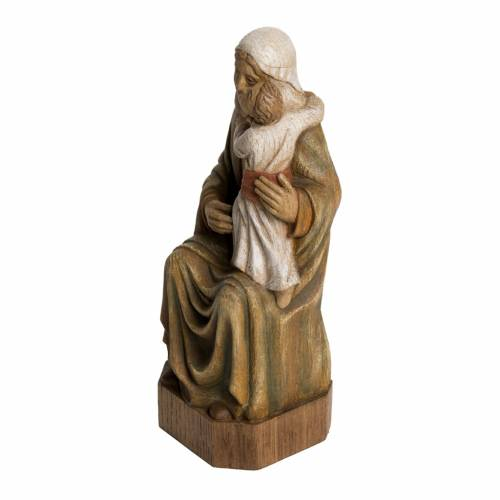 Spanish Virgin statue in painted Bethléem wood, 27 cm s3