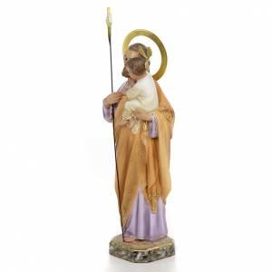St Joseph à l'enfant 30 cm pâte à bois s2