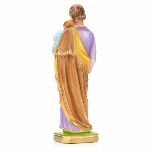 St Joseph and Baby Jesus statue in plaster, 30 cm 4
