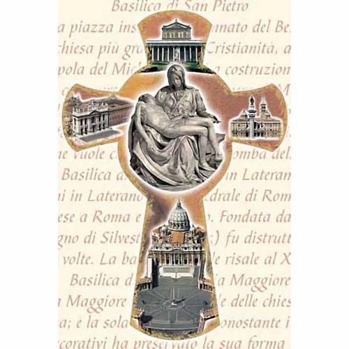 Stampa Croce con Basiliche di Roma s1