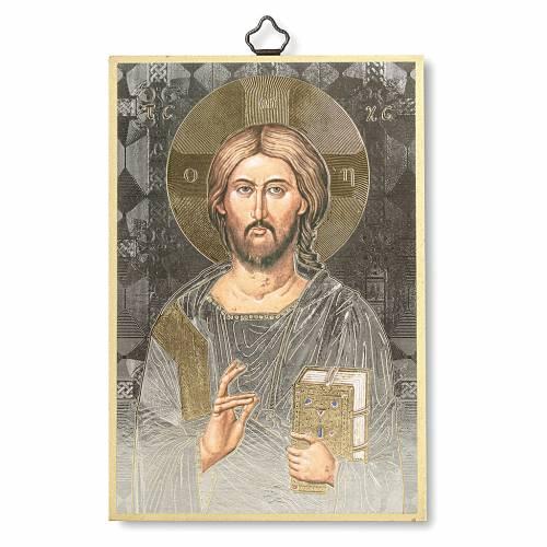 Stampa su legno Icona del Gesù Pantocratore s1