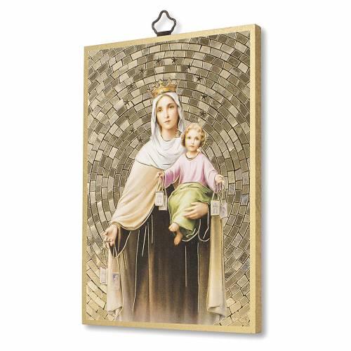 Stampa su legno Madonna del Carmelo Preghiera Madonna del Carmine ITA s2