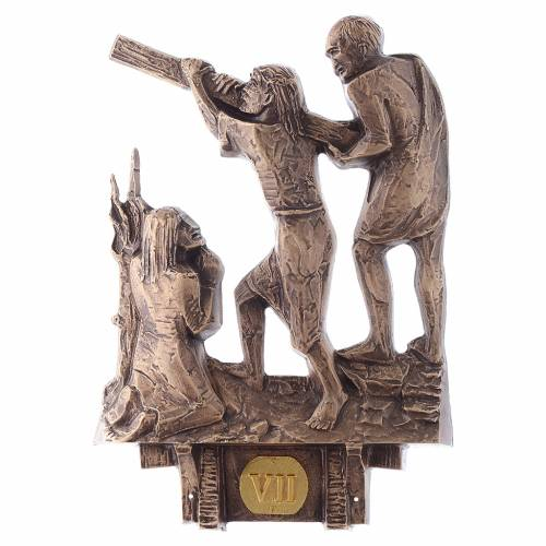 Stations of the Cross in bronze, 14 stations s7