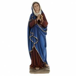 Statua Addolorata mani giunte 80 cm polvere di marmo dipinta s1