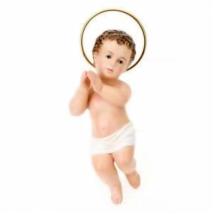 Statue Gesù Bambino: Gesù Bambino pasta legno mani giunte