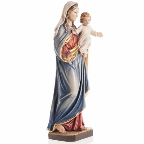 Statua Madonna con bambino legno dipinto Val Gardena s6