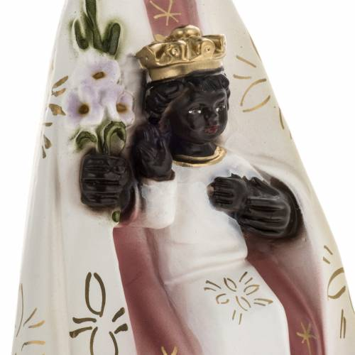 Statua Madonna del Tindari gesso 30 cm s3