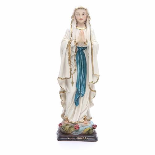 Statua Madonna Lourdes 20,5 cm resina s1