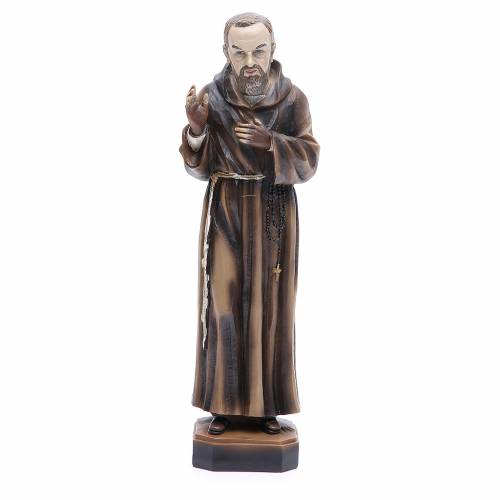 Statua P. Pio da Pietrelcina 30 cm resina s1