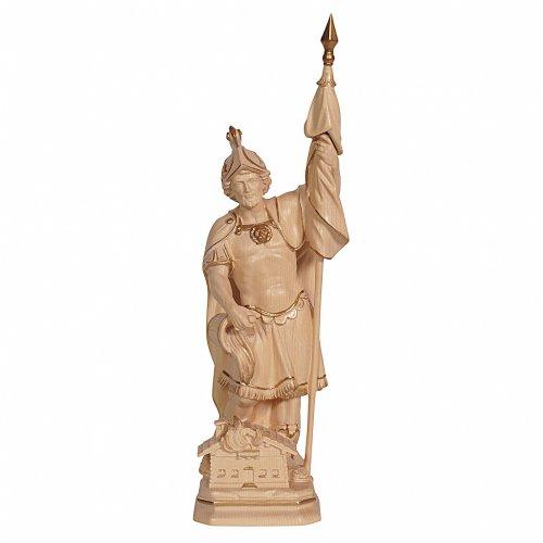 Statua San Floriano realistico cera filo oro s1