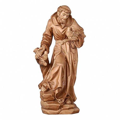 Statua San Francesco brunito 3 colori realistico s1