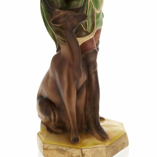 Statua Sant'Uberto di Liegi 30 cm gesso s3
