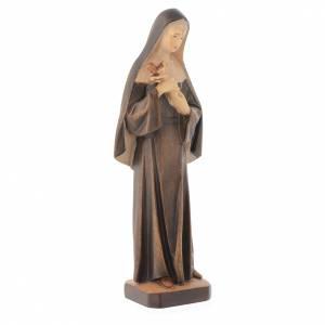 Statua Santa Rita in legno con diverse tonalità di marrone s3